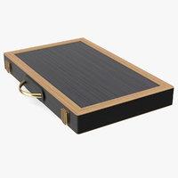 3D folded backgammon board case model