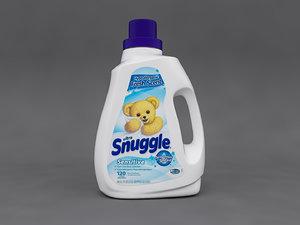 ultra snuggle detergent bottle 3D model