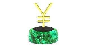 yen sign 3D model