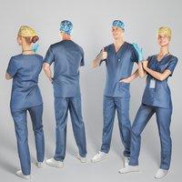 3D handsome doctors
