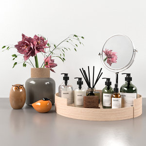 bathroom accessories decor set model