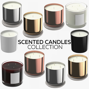 scented candles 3D