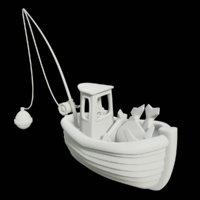 toon fishing boat 3D model