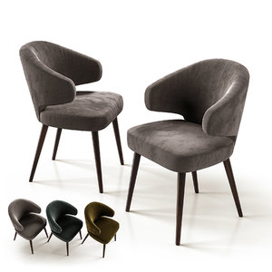 3D aston chair minotti
