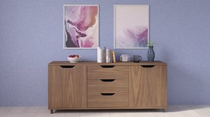 3D sideboard decor
