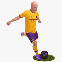 3D Soccer Player 4K Rigged