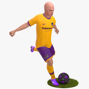 3D rigged soccer player 4k model