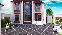 3D model house villa landscape xalqlar