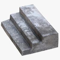 concrete steps 02 3D model