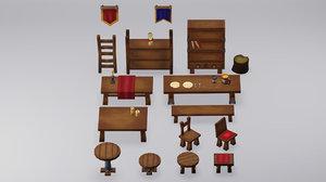 furniture asset 3D model