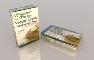 burger veggie 3D model