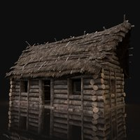 AAA Next Gen Generic Thatched Log House Cottage Hut