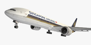 boeing 777-9 singapore airlines 3D