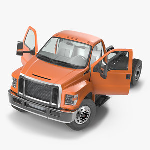 crew cab chassis truck 3D model
