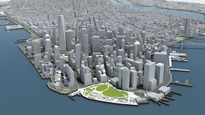 architectural mass new york 3D model