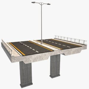 3D highway bridge road model