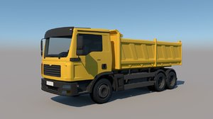 3D rigged lorry truck model