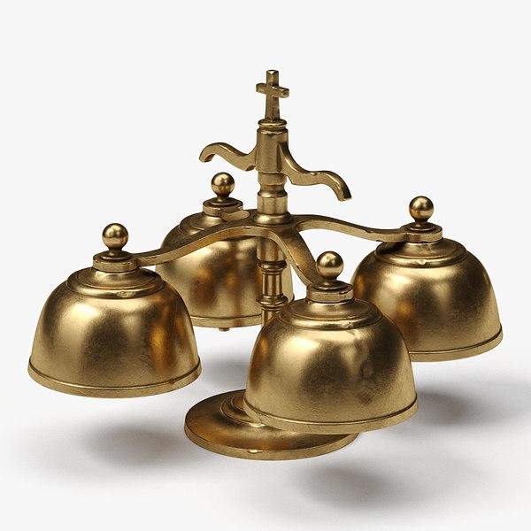 3D model altar bells