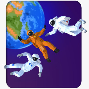 3D model style astronauts humans characters