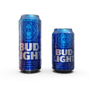3D bud light beer cans