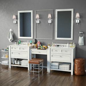bathroom furniture decor 3D model
