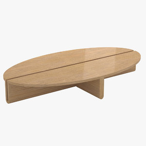 3D avenue road dup oval table model
