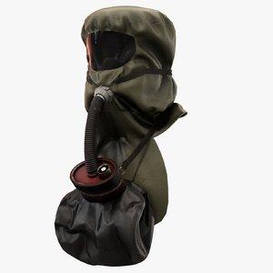gas mask scsr 3D model