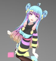 color girl 3D model