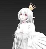 3D model bow bowsette