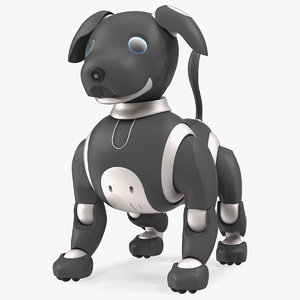 robot dog generic bots 3D model
