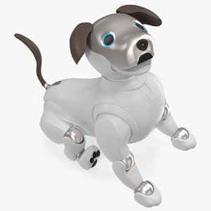 3D sony aibo 2017 sitting
