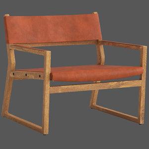 coco republic milano chair 3D model