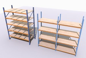 3D industrial shelves model