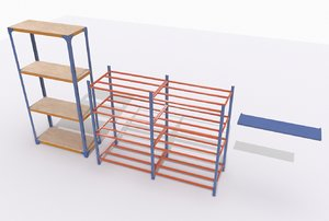 industrial shelves 2 3D model