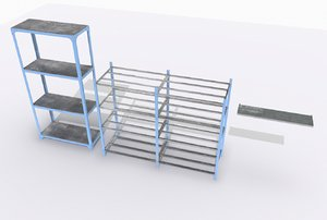 industrial shelves 1 3D