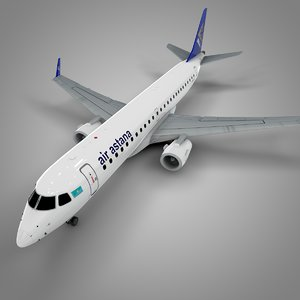 3D air astana embraer190 l569
