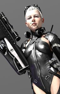 3D cyborg commando