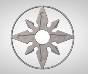 3D throwing star ninja model
