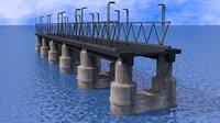 sci-fi bridge model