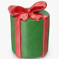 gift box cylindrical model