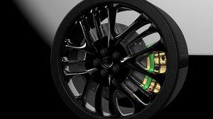 3D wheel sport model