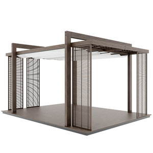 3D architecture gazebo pergola