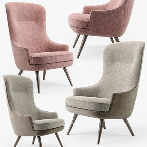 3D model lounge furniture walter knoll