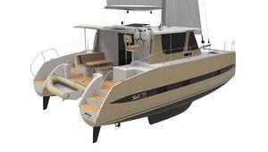sailing catamaran sight 33 3D model