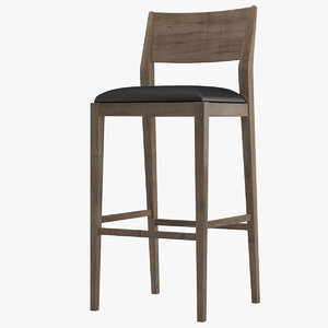 bar stool 02 3D model