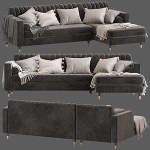 3D cult furniture belgravia sofa model