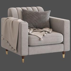 cult furniture belgravia armchair 3D