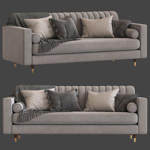 3D cult furniture belgravia 3-seater