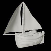 3D toon yacht
