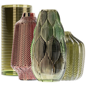 3D amazing glass vases set